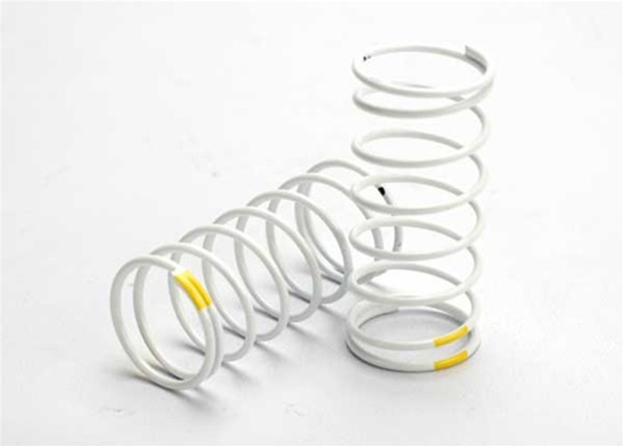 Traxxas Front White GTR Shock Spring 0.7 Rate Yellow, 5427