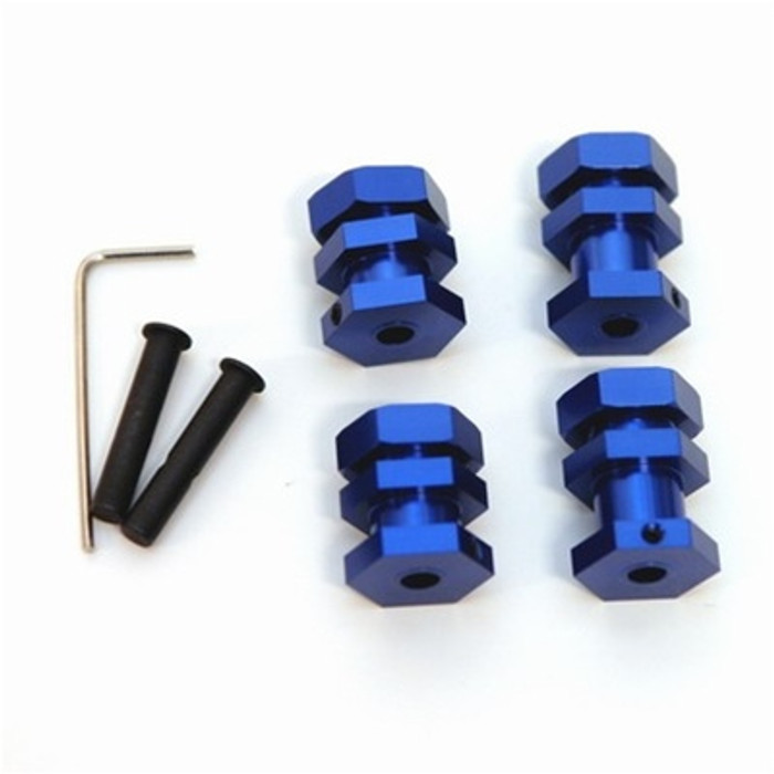ST Racing Concepts Performance 17mm Hex Conversion Kit for Slash/Stampede/Rustler/Bandit (Blue), 3654-17B