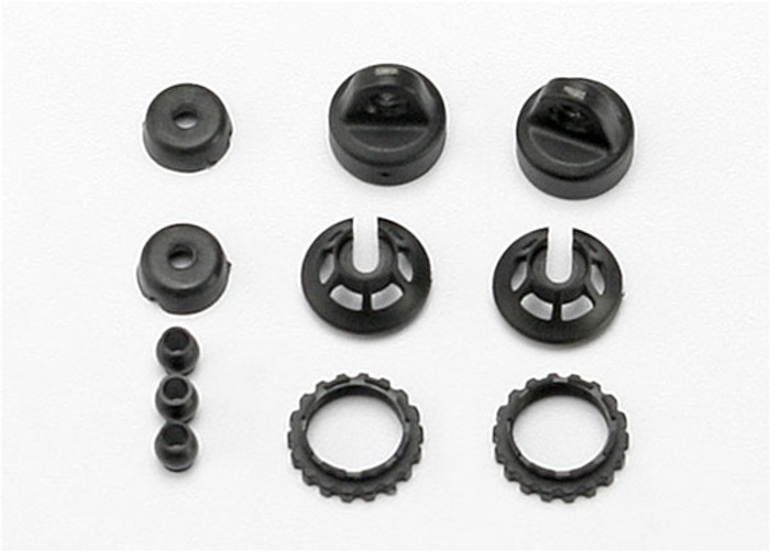 Traxxas Caps and Spring Retainers for 1/16 GTR Shocks, 7065