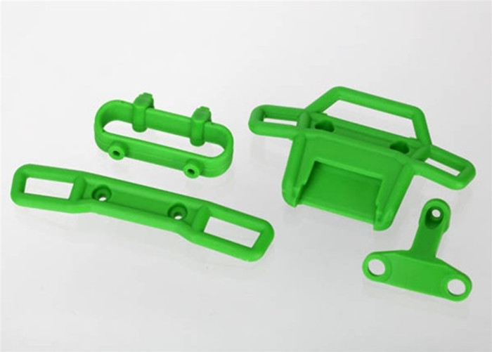 Traxxas Green Bumpers Front and Rear with Supports - 1/16 Monster Jam, 7236A