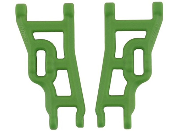 RPM Front A-Arms for Traxxas Electric Rustler/Electric Stampede/Slash 2WD - Green, 80244