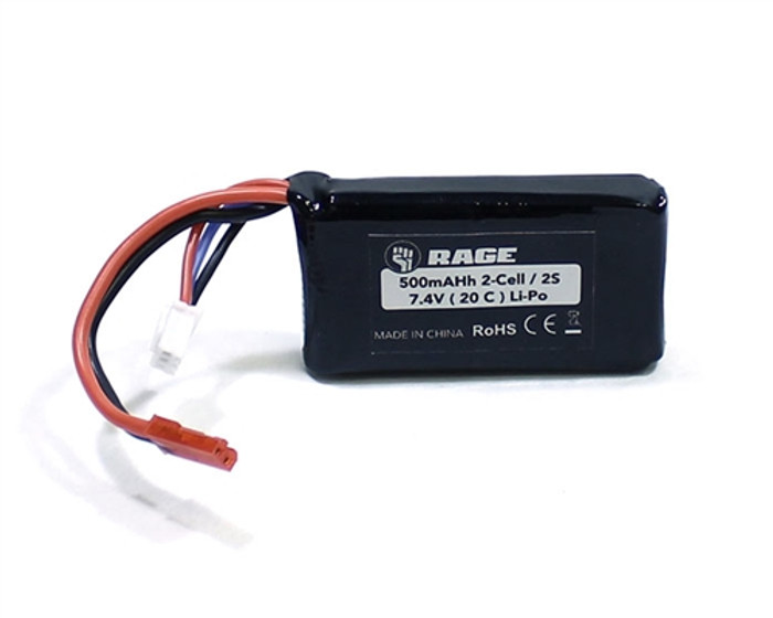 Rage 7.4V 500mAh Lipo Battery for Super Cub 750, A1152