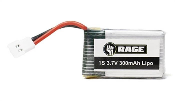 Rage 3.7V 300mAh LiPo Battery for Triad and Orbit FPV Drones, 3060