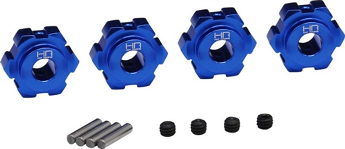 Hot Racing Aluminum 17mm Splined Hubs for Traxxas Maxx 4S