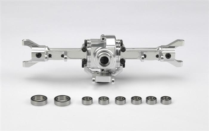 Carisma CNC Aluminum Front Axle w/Ball Bearings - Fits All SCA-1E, 15889