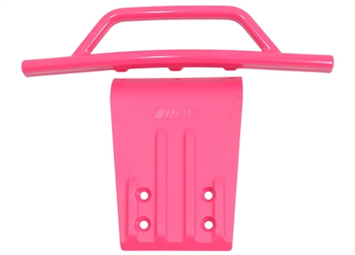 RPM Front Bumper and Skid Plate for Traxxas Slash 2WD - Pink, 80957