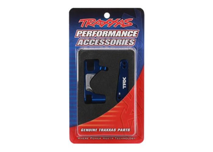 Traxxas Blue Aluminum Caster Blocks C-Hubs Left & Right Slash 4X4, 6832X