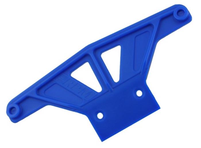 RPM Wide Front Bumper for Traxxas Rustler/Stampede/Bandit/Nitro Sport - Blue, 81165