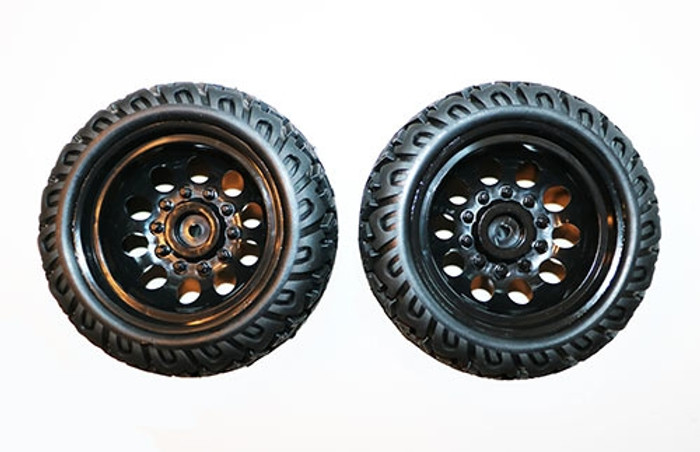 DHK Tires with Wheels (2) for the Raz-R 2 Stadium Truck, 8141-001