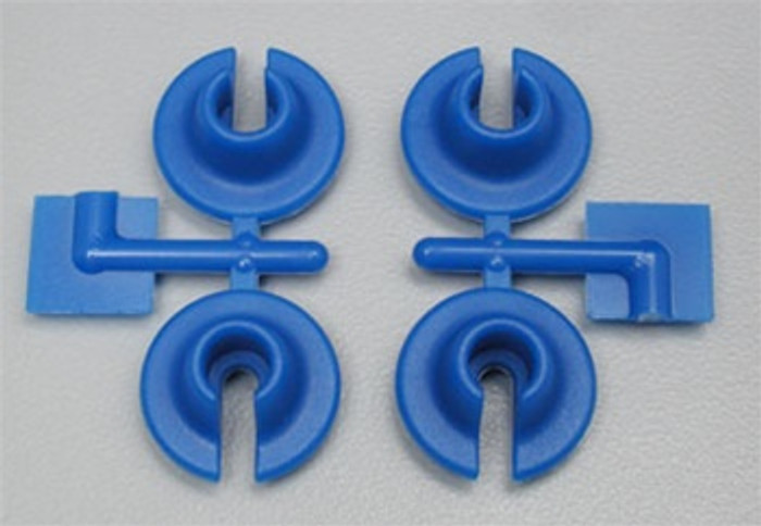 RPM Lower Spring Cups for Traxxas and Losi Shocks - Blue, 73155