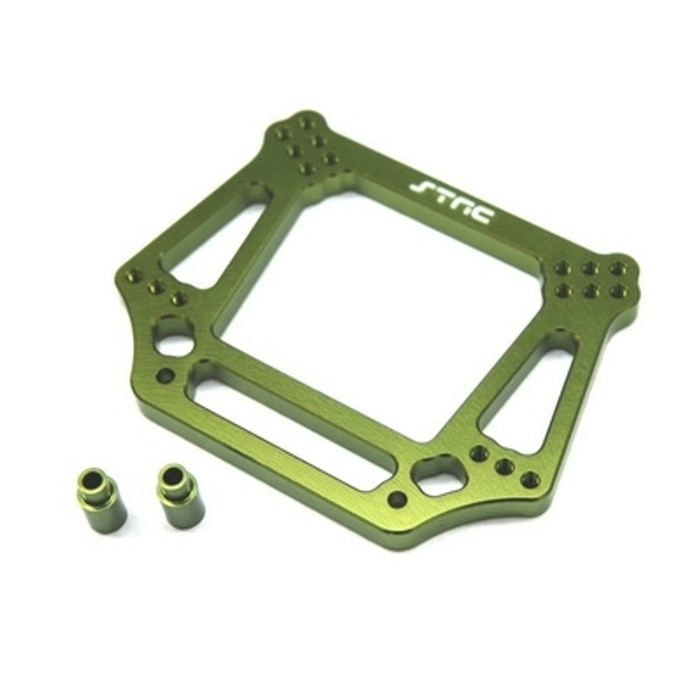 ST RACING CNC Machined Aluminum 6mm HD Front Shock Tower (Green)