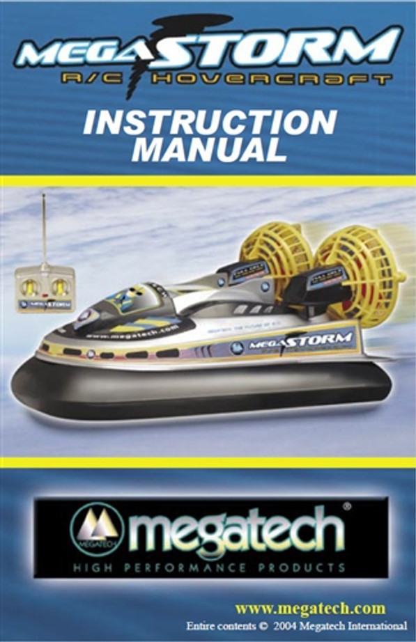 Megatech Megastorm Hovercraft User Manual Download