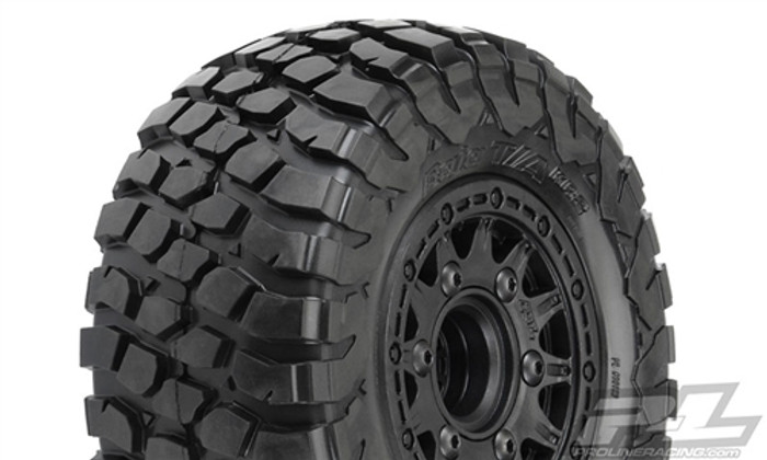 "Pro-Line BFGoodrich Baja T/A KR2 SC 2.2""/3.0"" M2 Medium All Terrain Tires Mounted on Raid Black 6X30 Removable Hex Wheels, 10123-10"