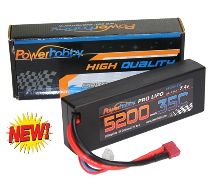 Power Hobby 7.4V 5200mAh 35C LiPo Battery w/T-Plug Connector