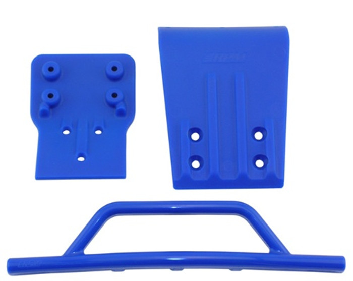 RPM Front Bumper & Skid Plate for Traxxas Slash 4x4 - Blue, 80025