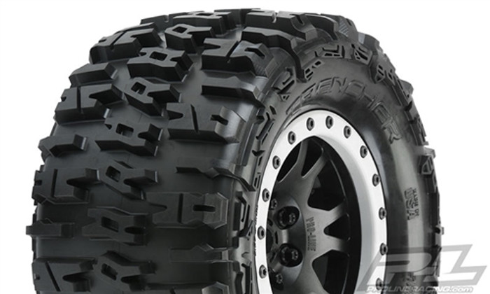 Pro-Line Trencher MX43 Pro-Loc All Terrain Tires Mounted on Impulse Pro-Loc Wheels for X-Maxx, 10151-13