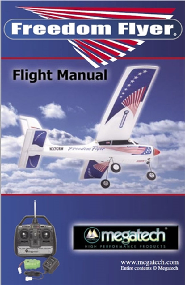 Megatech Freedom Flyer Airplane User Manual Download