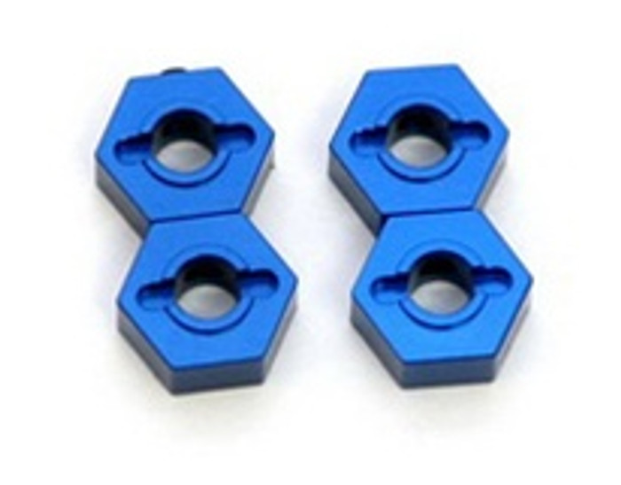 ST RACING CNC Machined Aluminum 12mm Hex Adapters Slash/Stampede 4x4 (Blue), 1654B