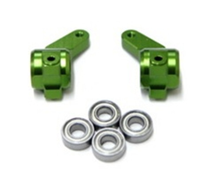 ST RACING CNC Machined Aluminum Oversized Front Knuckle (Green), 3636G
