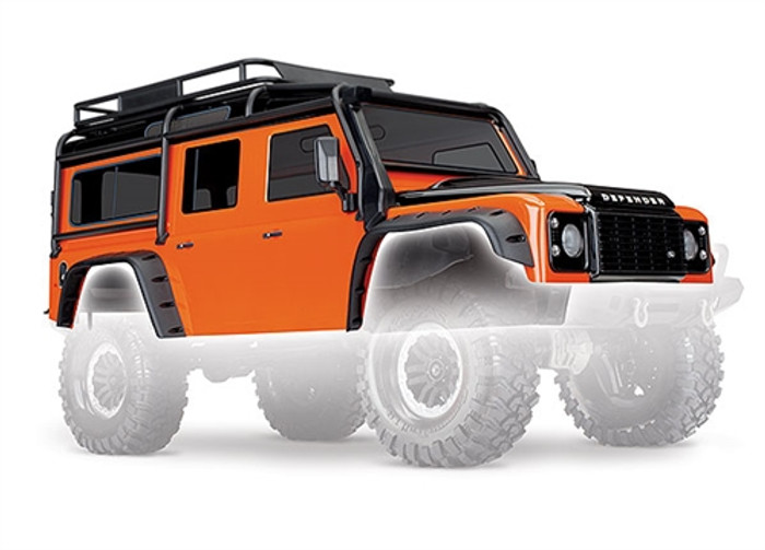 Traxxas Adventure Orange Land Rover Defender Body for TRX-4, 8011A