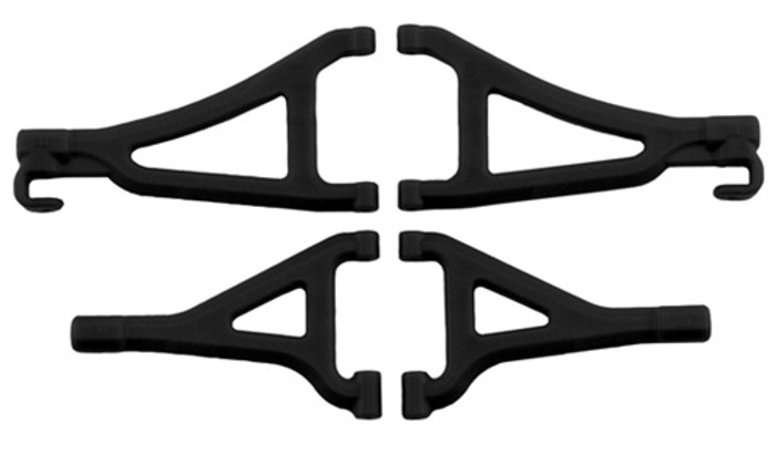 RPM Front Upper & Lower A-Arms for Traxxas 1/16th E-Revo - Black, 80692