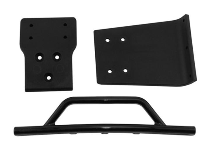 RPM Front Bumper & Skid Plate for Traxxas Slash 4x4 - Black, 80022