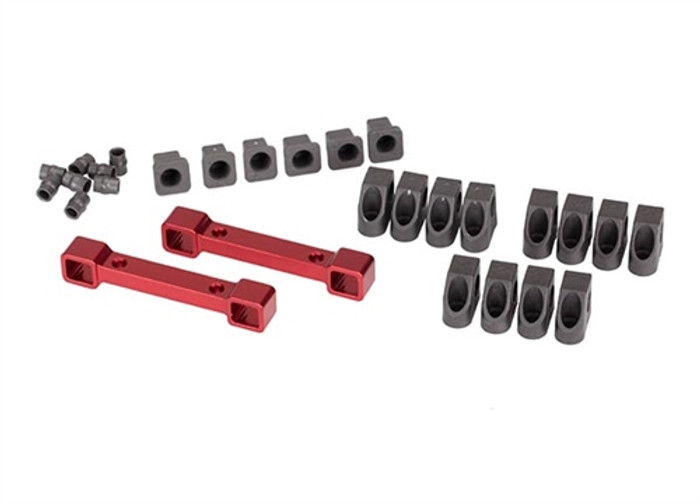 Traxxas Red Aluminum Suspension Arm Mounts for Ford GT & 4-Tec 2.0, 8334R