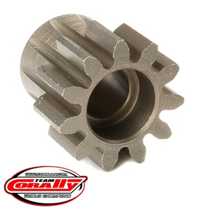 Team Corally 11T Mod 1.0 Hardened Steel Pinion Gear - 1/8, C-72711