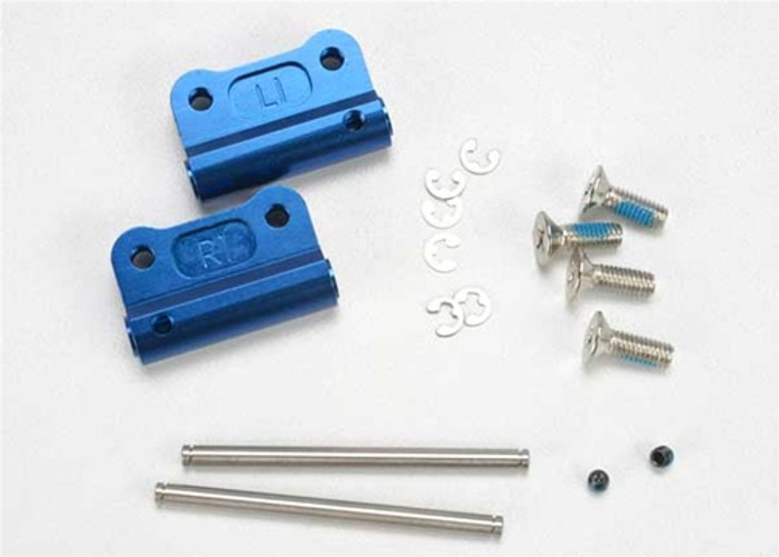 Traxxas Blue Rear Aluminum Suspension Arm Mounts, 2798X