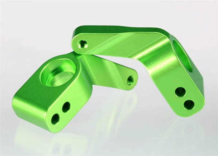Traxxas Green Aluminum Stub Axle Carriers, 3652G