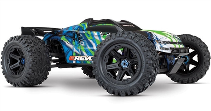 Traxxas E-Revo 2.0 Brushless Next Gen Monster Truck - Green, 86086-4