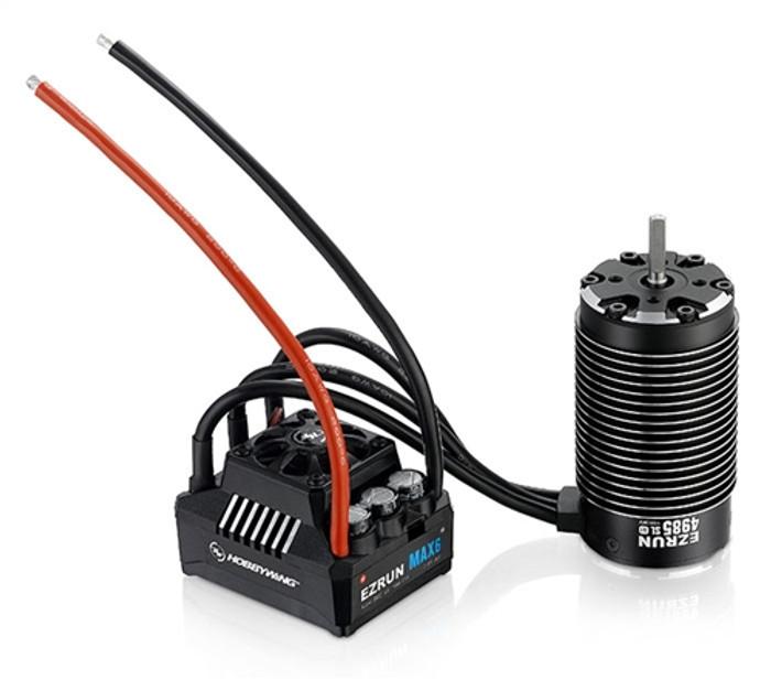 Hobbywing MAX 6 ESC and EzRun 4985 SL 1650kv Brushless Motor Combo, 38010801
