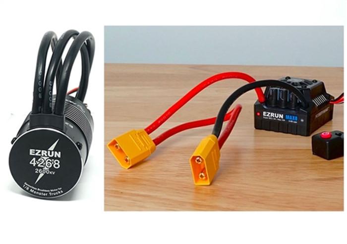 Hobbywing MAX 8 ESC and EzRun 4268 2600kv SL Brushless Motor Combo - XT90 Plug, 38010402