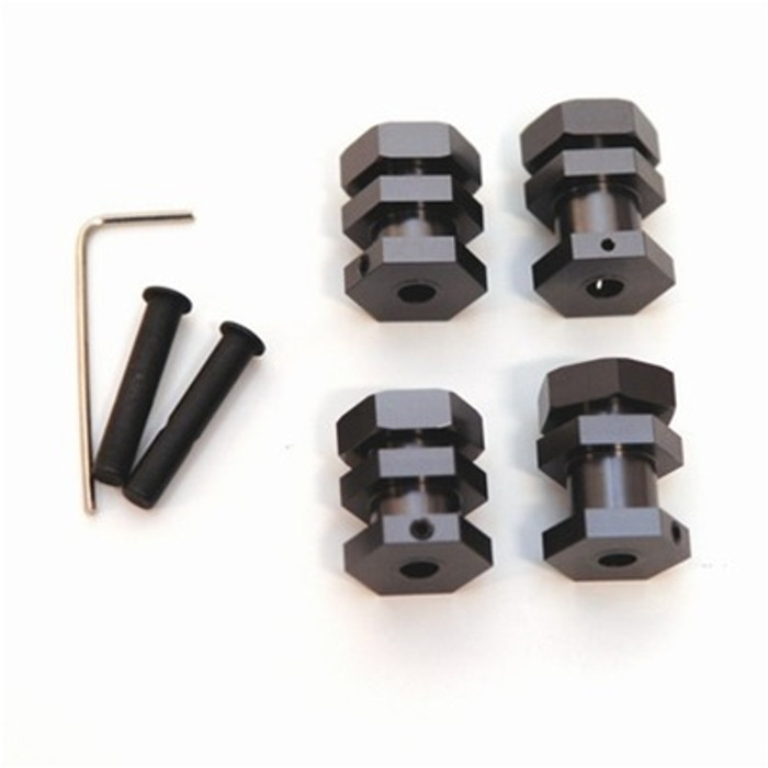 ST Racing Concepts Performance 17mm Hex Conversion Kit for Slash/Stampede/Rustler/Bandit (Gun Metal), 3654-17GM