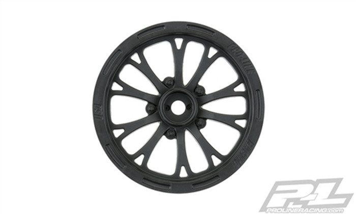 "Pro-Line Pomona Drag Spec 2.2"" Black Front Wheels, 2775-03"