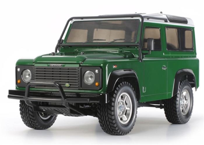 Tamiya Land Rover Defender 90 4WD Assembly Kit, 58657