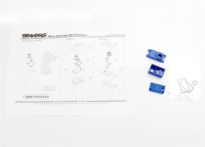 Traxxas Servo Case and Gasket Set for 2065 waterproof sub-micro servo, 2063