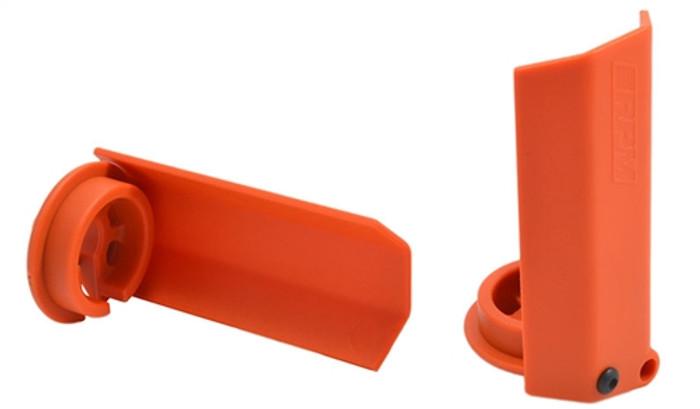 RPM Orange Shock Shaft Guards for Traxxas X-Maxx, 80438