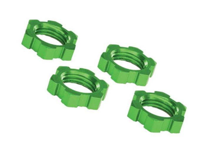 Traxxas 17mm Wheel Nuts Splined Green Anodized - X-Maxx, 7758G
