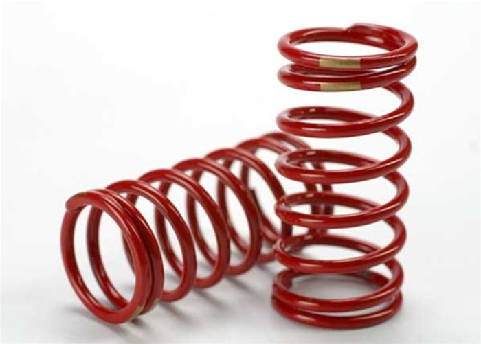 Traxxas Red GTR Shock Spring 3.8 Rate Gold Revo, 5439