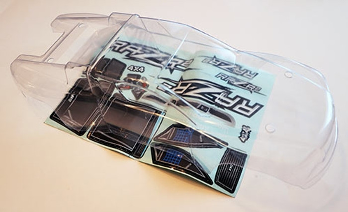 DHK Clear Body with Decals for the Raz-R 2 Stadium Truck, 8141-005