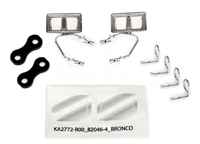 Traxxas Chrome Side Mirrors for TRX-4 Ford Bronco, 8073X
