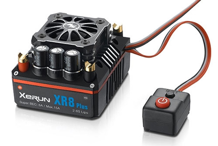 Hobbywing XeRun XR8 Plus Sensored Brushless ESC, 30113300