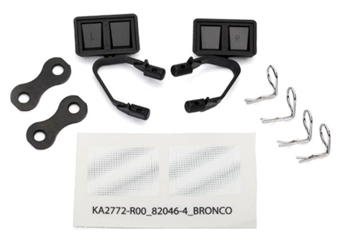 Traxxas Black Side Mirrors for TRX-4 Ford Bronco, 8073