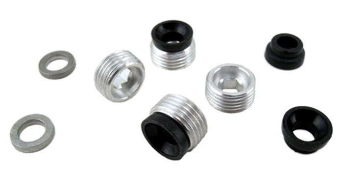 RPM Pillow Ball Setscrews & Bushing Caps for Traxxas T/E-Maxx, 80010
