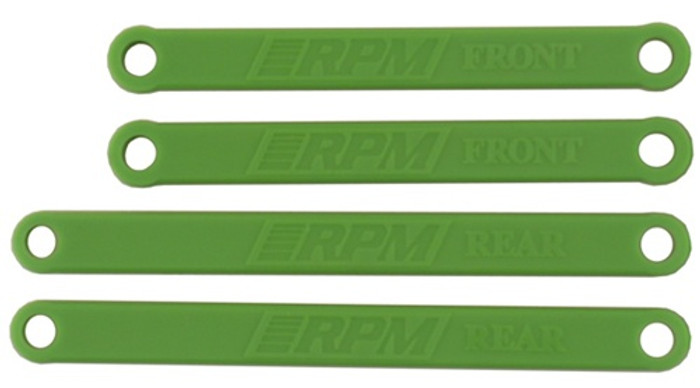RPM Heavy-Duty Camber Links for Traxxas Electric Rustler and Stampede - Green, 81264