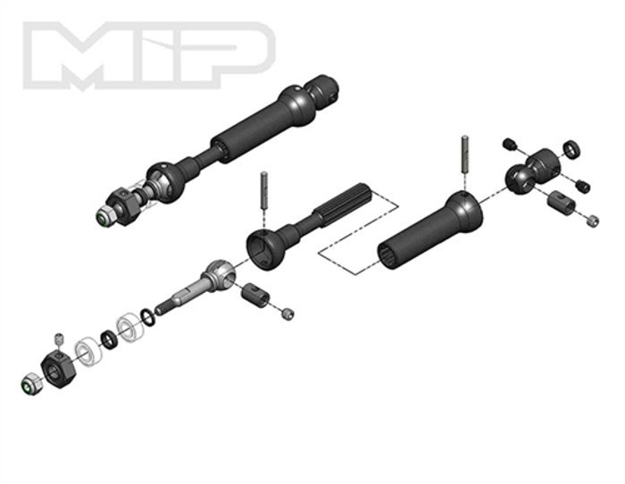 MIP X-Duty Rear CVD Kit for Slash/Rally/Stampede 4x4, 18140