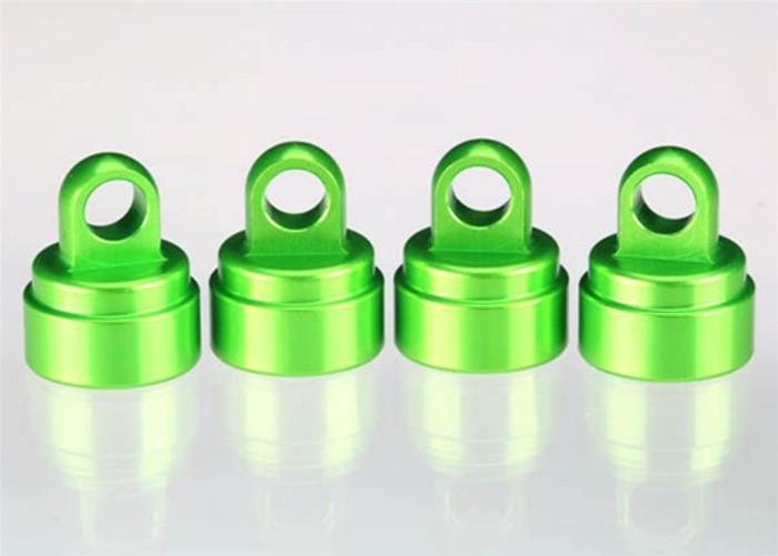 Traxxas Shock Caps Green Aluminum, 3767G