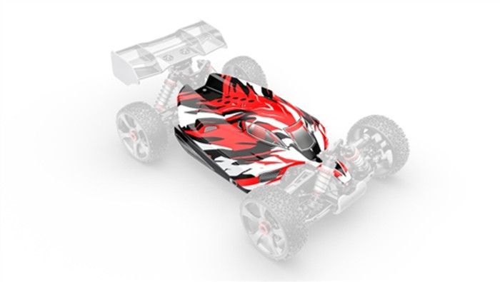 Team Corally Painted PC Body for Python XP - 1/8, C-00180-375