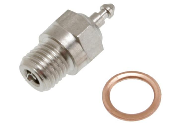 Traxxas Super Duty Glow Plug (long-medium w/gasket), 3232X